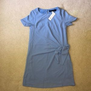 Francesca's blue front tie dress